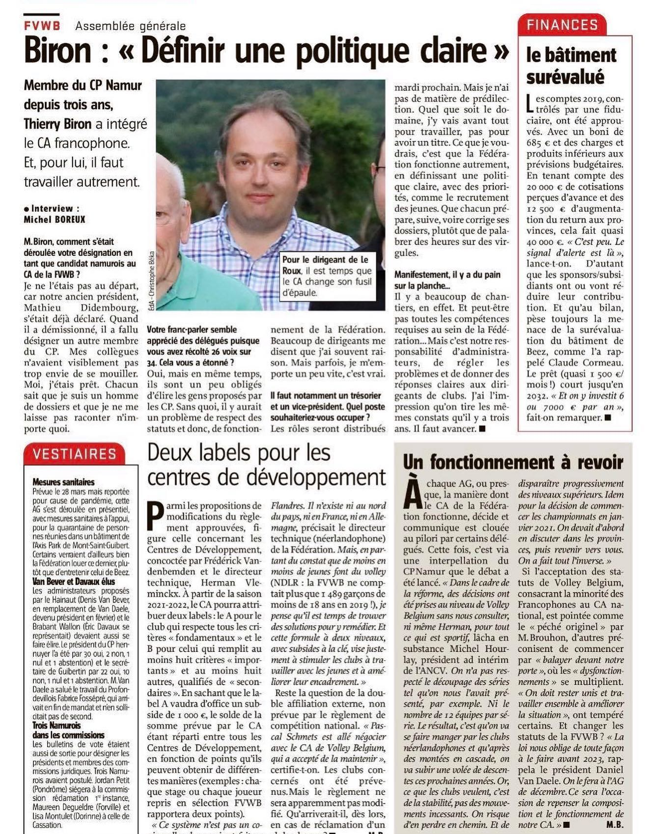 Article de presse du 17 juin 2020