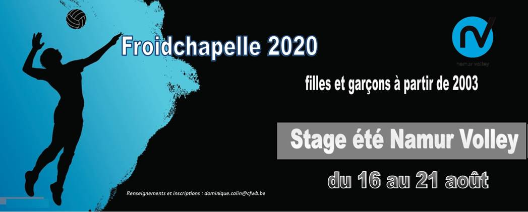 Stage Namur Volley 2020